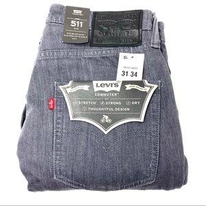 Levi's 511 Men's commuter Slim jean Size 30x30 NWT